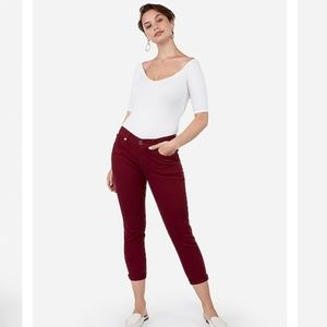 New Express mid rise cropped leggings size 4
